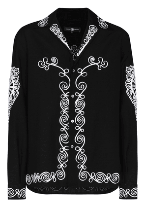 Edward Crutchley Tape embroidered shirt - Black