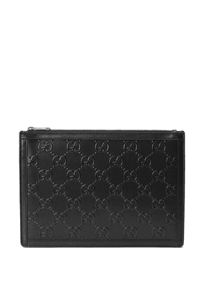 Gucci GG embossed pouch - Black