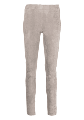 Arma suede skinny trousers - Grey