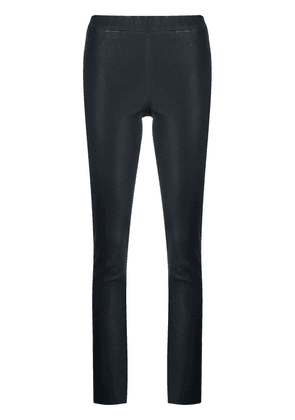 Arma leather straight-leg trousers - Blue