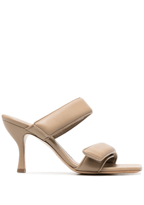 Gia Couture touch-strap leather sandals - Neutrals