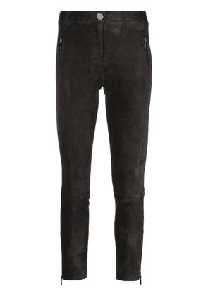 Arma cropped suede trousers - Black
