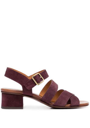Chie Mihara buckle-fastening suede sandals - Red