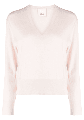Allude cotton-cashmere blend knitted top - Pink