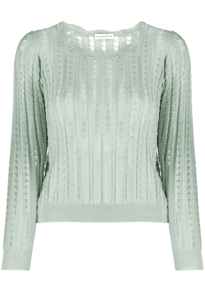 Ballantyne distressed-finish knitted top - Green