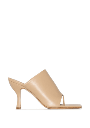 Gia Couture x Pernille 80mm mules - Neutrals