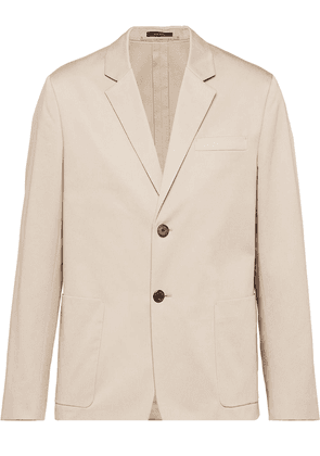 Prada notched-lapel single-breasted blazer - Neutrals