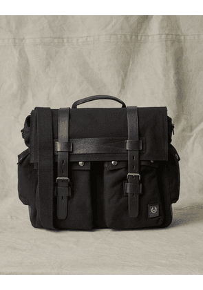 Belstaff Messenger Canvas Bag Black