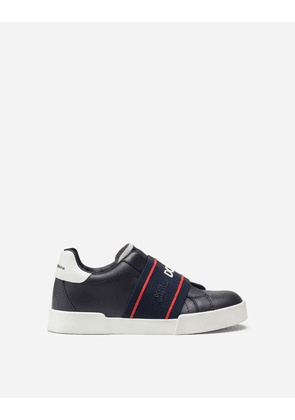 Dolce & Gabbana Shoes (24-38) - Calfskin Portofino light sneakers with logo-detailed elastic MULTICOLOR male 33