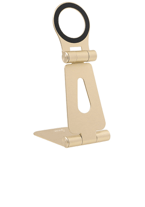 Sonix Pedestal Magnetic Phone Stand in Metallic Gold.