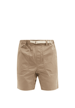 Albam - Service Belted Cotton-ripstop Shorts - Mens - Beige