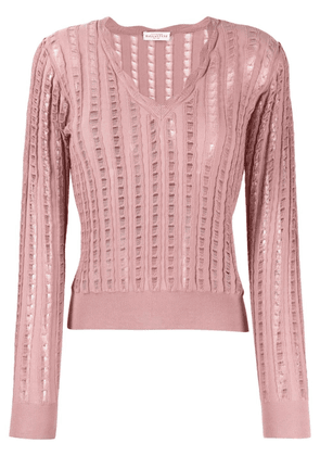 Ballantyne distressed-finish knitted top - Pink