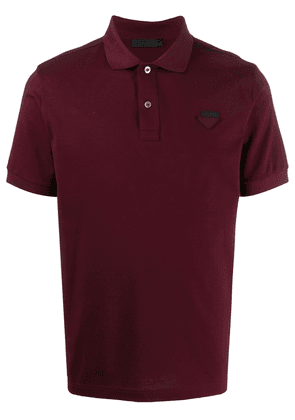 Prada piqué short-sleeved polo - Red