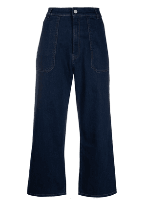 Fay high-rise cropped jeans - Blue