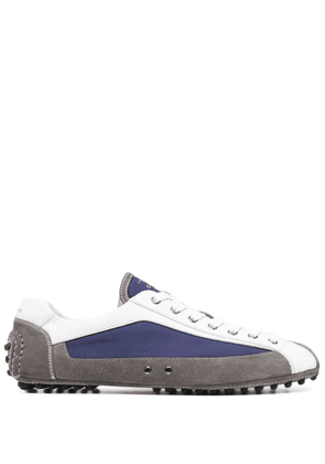 Car Shoe panelled leather sneakers - Grey