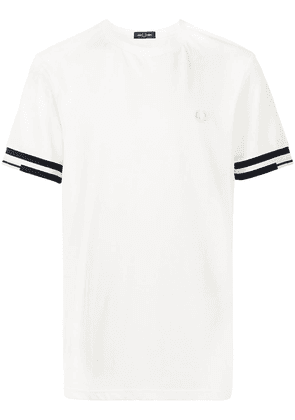 FRED PERRY abstract cuff T-shirt - White