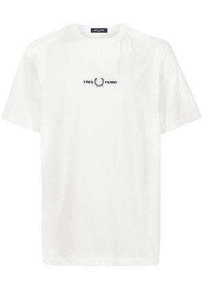 FRED PERRY embroidered logo T-shirt - White