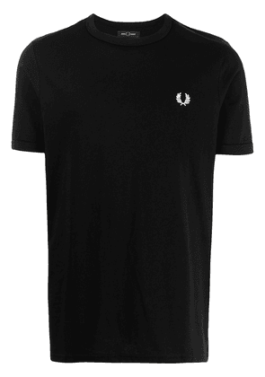 FRED PERRY Ringer embroidered logo T-shirt - Black