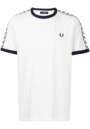FRED PERRY Taped Ringer T-shirt - White