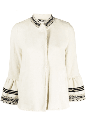 Bazar Deluxe stripe-detail knitted jacket - Neutrals