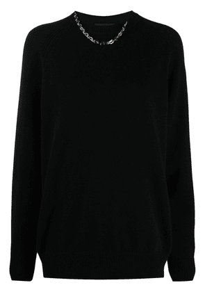 Givenchy chain-detail cashmere jumper - Black