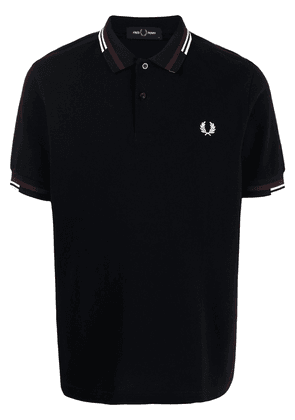 FRED PERRY logo-embroidered polo shirt - Blue