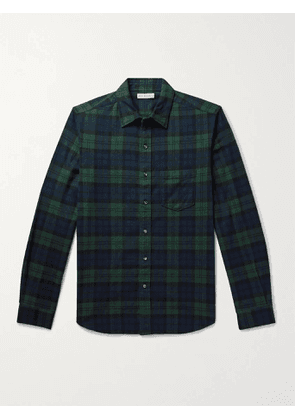 ALEX MILL - Checked Cotton-Flannel Shirt - Men - Green - XS