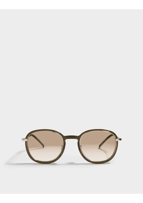 Saint Laurent Panthos Sunglasses in Green