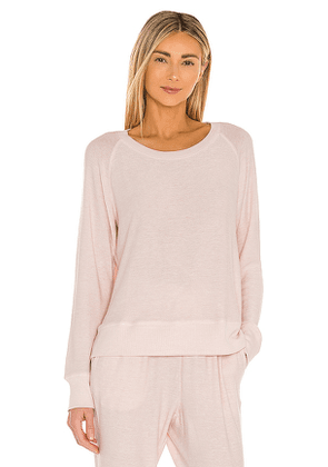 homebodii Jordyn Raglan Top in Blush. Size S, M, L.