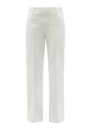 Acne Studios - High-rise Cotton-canvas Bootcut Trousers - Womens - Ivory