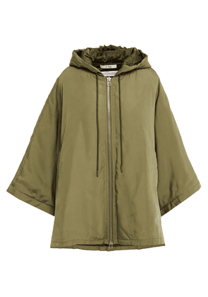 Clu Oversized Shell Hooded Jacket Woman Army green Size S