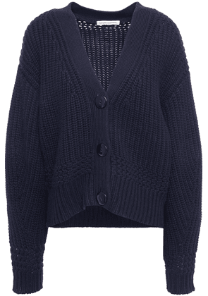 Autumn Cashmere Knitted Cardigan Woman Navy Size L