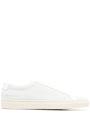 Common Projects perforated low sneakers - White