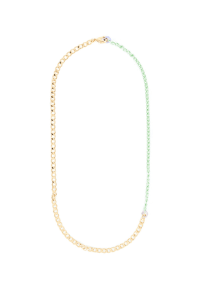 'Disco' 18k gold plated and coloured link chain necklace