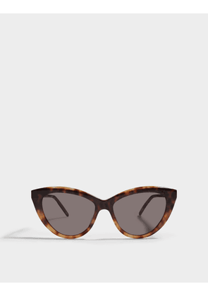 Saint Laurent Cat Eye Sunglasses in Havana Brown