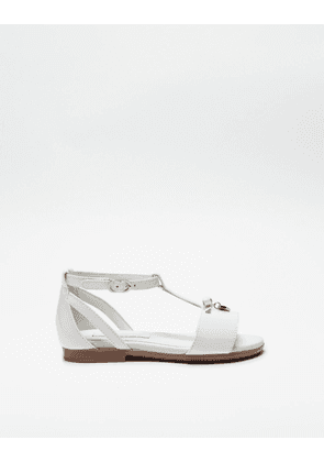 Dolce & Gabbana Shoes (24-38) - Patent sandal with bow WHITE female 30