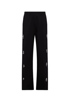 Embellished cotton sweatpants