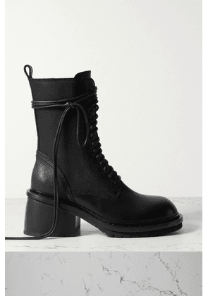 Ann Demeulemeester - Leather Ankle Boots - Black