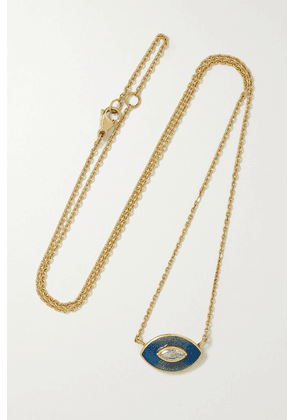 Brooke Gregson - Talisman 18-karat Gold, Enamel And Diamond Necklace