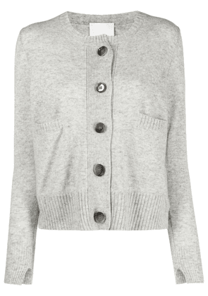 Allude button-up knitted cardigan - Grey