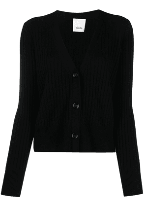 Allude button-up cashmere cardigan - Black