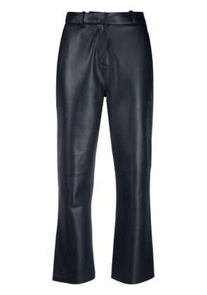 Arma cropped lambskin trousers - Blue