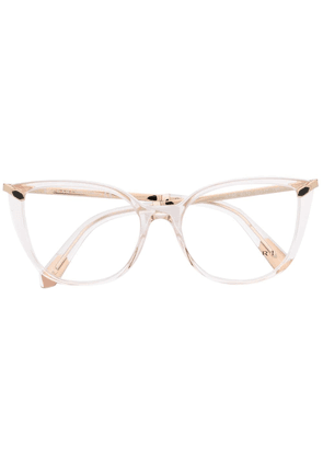 Bvlgari transparent cat-eye glasses - Pink