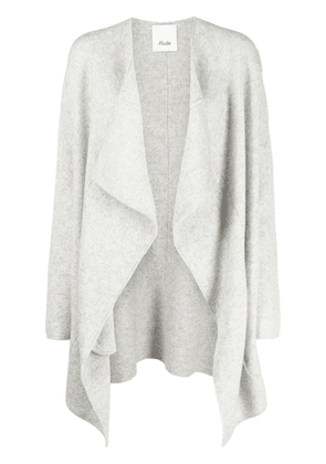 Allude draped knitted kaftan - Grey