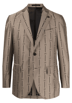 Gabriele Pasini skull-print single-breasted blazer - Neutrals