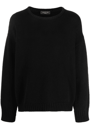 Gabriele Pasini skull-embroidered knitted jumper - Black