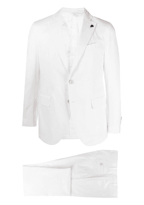 Gabriele Pasini single-breasted cotton-blend suit - White