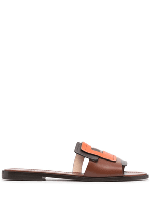 Fratelli Rossetti Flame slip-on leather sandals - Brown