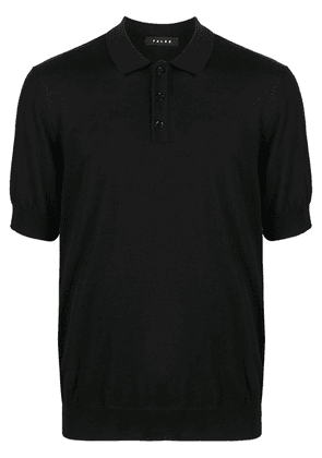 Falke fine-knit wool polo shirt - Black