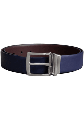 Burberry Reversible Leather Belt - Blue